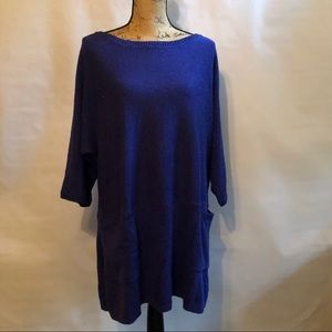 Soft Surroundings Tunic Sweater 3/4 sleeves PL/PXL